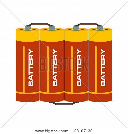 Battery, lithium, batteries icon vector image. Can also be used for electric circuits. Suitable for use on web apps, mobile apps and print media.