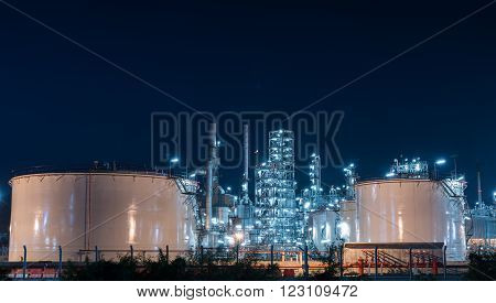 Oil Refinery Gas Industry Plant Of Petroleum
