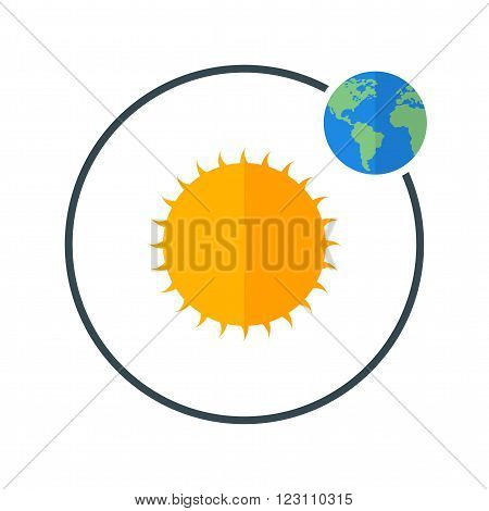 Orbit, solar, earth icon vector image.Can also be used for astronomy. Suitable for use on web apps, mobile apps and print media.