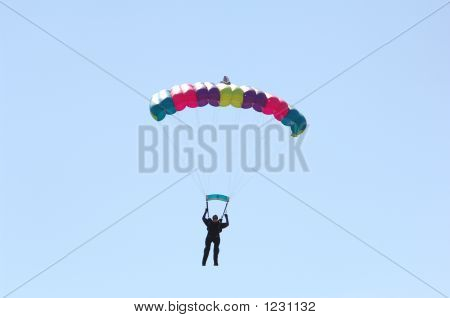 Parachutist Floating