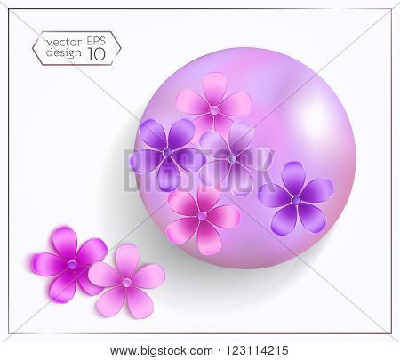 Set-of-realistic-spheres-with-pearl-effect-and-3D-flowers-01.eps