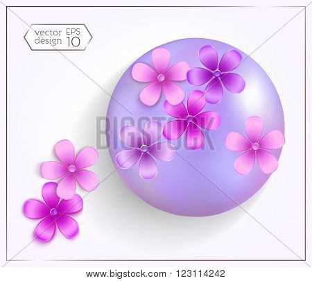 Set Of Realistic Spheres With Pearl Effect And 3D Flowers-02.eps