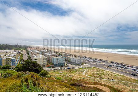 outer richmond Great Highway Ocean Beach San Francisco California USA