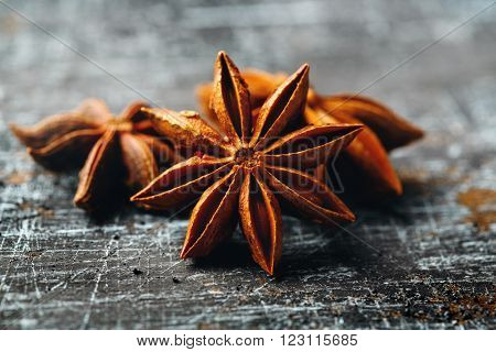 Close-up Of Star Anise On Vintage Table