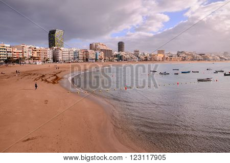 Picture View of a Tropical Beach near the City