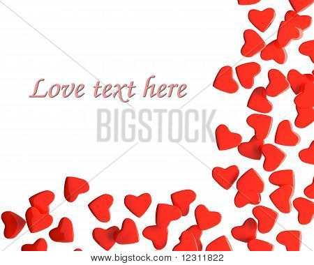 Valentine hearts with sample text