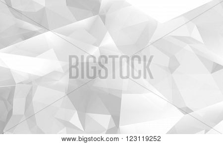 Abstract White Digital 3D Polygonal Background