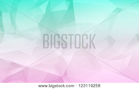 Abstract Digital Chaotic Polygonal Background