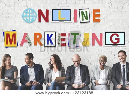 Online Marketing Graphics Word Design Concept
