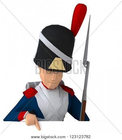 Napoleonic grenadier