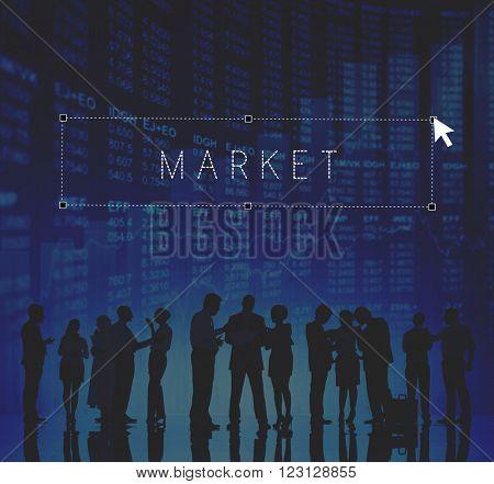 Market Customer Commerce Business Niche Sales Concept
