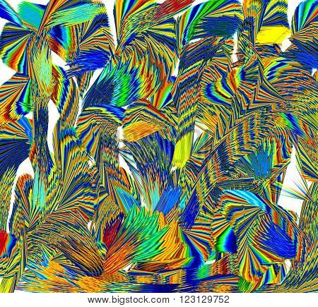 Colors The picture shows the different colors that create the impression of plants - trees and bushes.