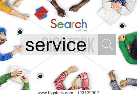 Service Assistance Support Aid Help Care Concept