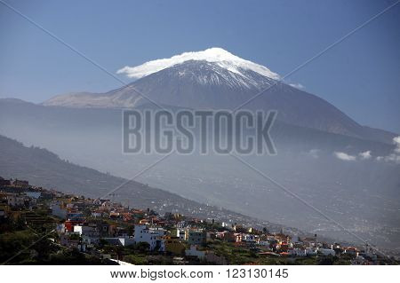 The Volcano Teide on the Island of Tenerife on the Islands of Canary Islands of Spain in the Atlantic.
