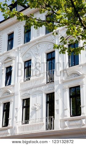 Facade of Art Nouveau building wilhelminian style