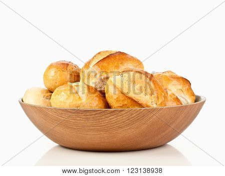 german bread roll or bun in the breadbasket