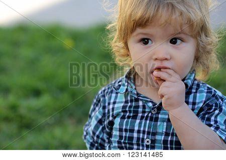Cute Baby Boy Outdoor