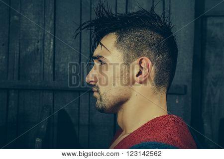 Man In Bathrobe Indoor