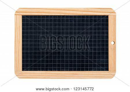 rectangular gridded school slate isolated on white background