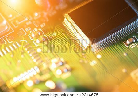 Processor Chip On Circuit Board