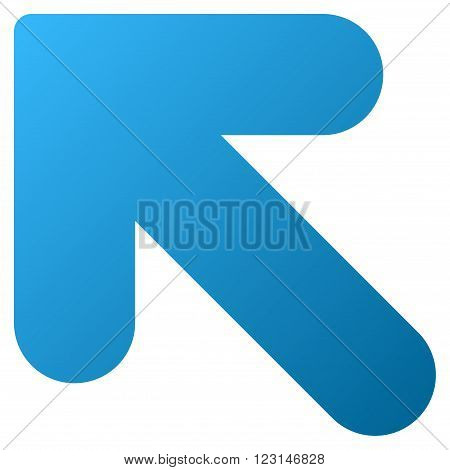 Arrow Up Left vector toolbar icon for software design. Style is gradient icon symbol on a white background.