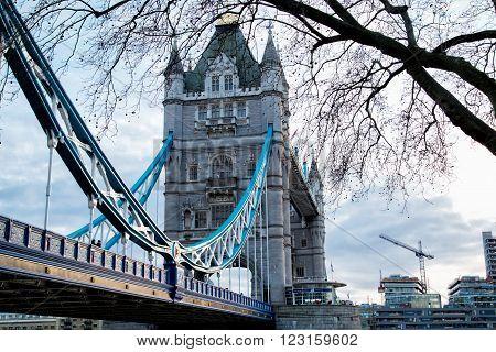 Tower Bridge in spring London United Kingdom