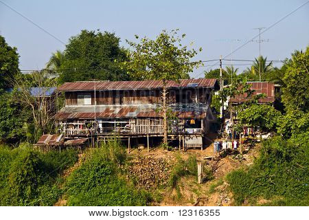 Rural House beside the river