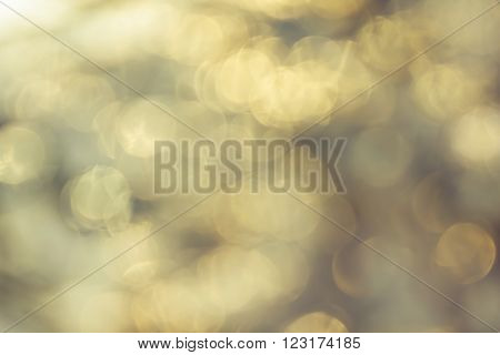 Dreamy Abstract Sparkle Shining Bokehsoft Pearl Golden Background