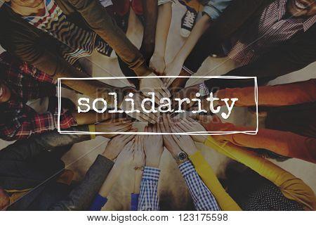 Solidarity Union Community Teamwork Relation Concept