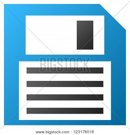 Floppy Disk vector toolbar icon for software design. Style is gradient icon symbol on a white background.