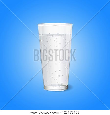 glass of water. pure water. mineral water. water vector