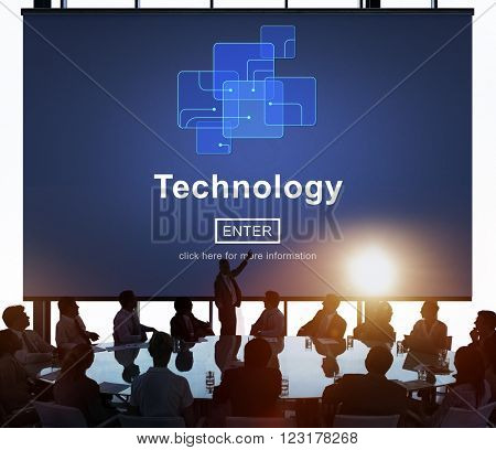Technology Innovation Digital Evolution Homepage Concept