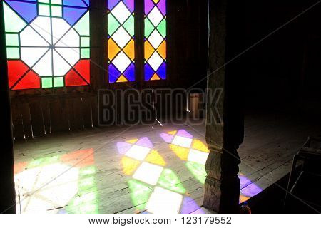 Stained Glass window, Hall of the Rulers, Baltit Fort