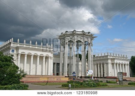 Moscow, Russia - July 04, 2009: Pavilion