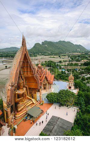 KANCHANABURI, THAILAND- JUL 18: Buddha Statue of Wat Tham Sua on July 18, 2015 in Kanchanaburi, Thailand