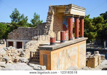 Palace Of Knossos, Crete, Greece (museum Of The Minotaur).