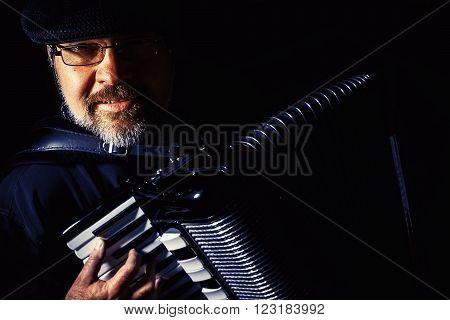 Accordion Player Portrait
