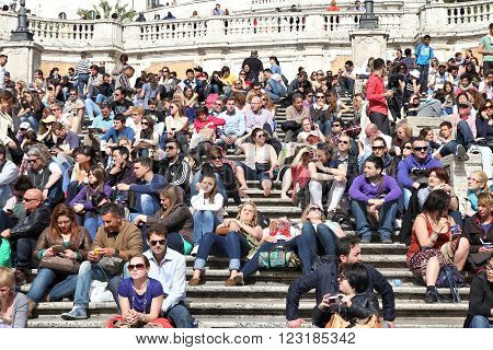Rome Tourists