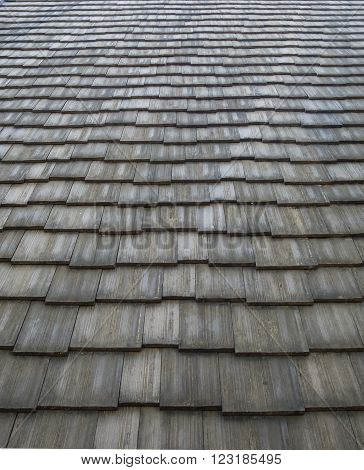 Shingles roof pattern in worm eyes view