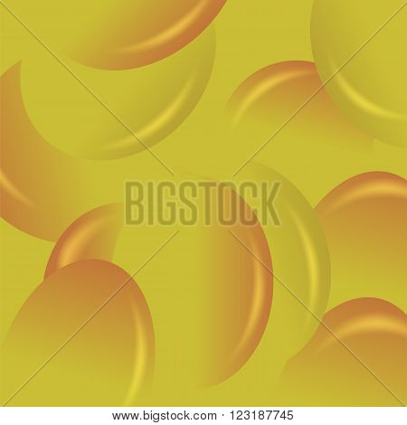 Yellow Candy Background. Set of Yellow Jelly Beans.
