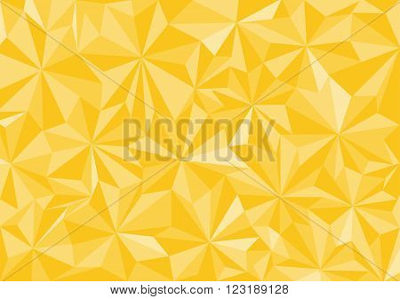 Low poly style vector yellow low poly design low poly style illustration Abstract low poly background vector
