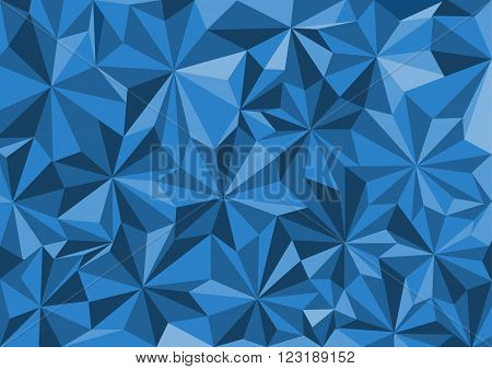 Low poly style vector blue low poly design low poly style illustration Abstract low poly background vector