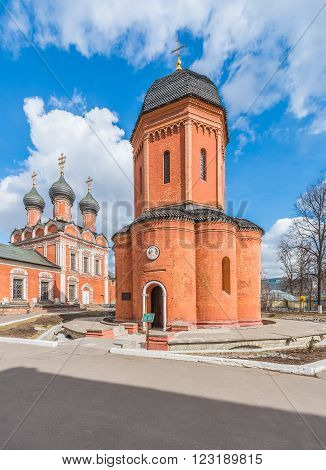 Moscow Russia - March 21 2016: the Cathedral of St. Peter Metropolitan of Moscow and all Russia in vysokopetrovsky monastery.