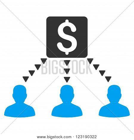 Money Recipients vector icon. Money Recipients icon symbol. Money Recipients icon image.