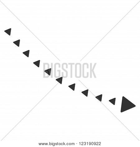 Dotted Decline Trend vector icon. Dotted Decline Trend icon symbol.
