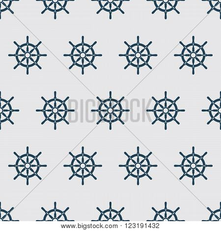 Ship helm vector seamless pattern. Helms seamless texture. EPS8 vector illustration.