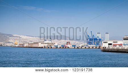 Panoramic Cityscape. Port Of Izmir, Turkey