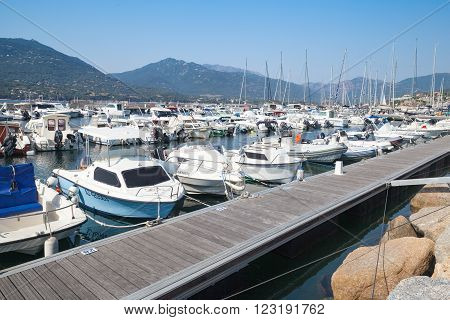 Marina Of Propriano Town, South Corsica