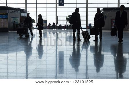 Passengers In Shanghai Pudong International Airport