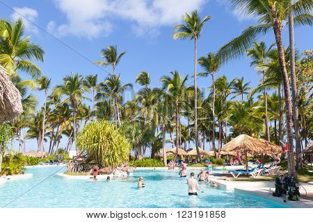 Ordinary Tourists Relaxing In Bavaro Princess Resort